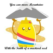 mustar seed carrying a mountain blog